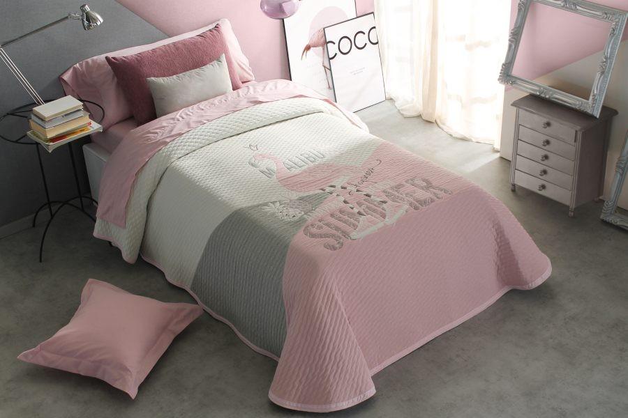 Cuvertura de pat BRIANNA roz, dimensiune 190 cm x 270 cm perdele-online.ro 2021