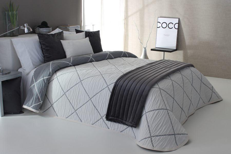 Cuvertura de pat DAMIR gri, dimensiune 190 cm x 270 cm perdele-online.ro 2021