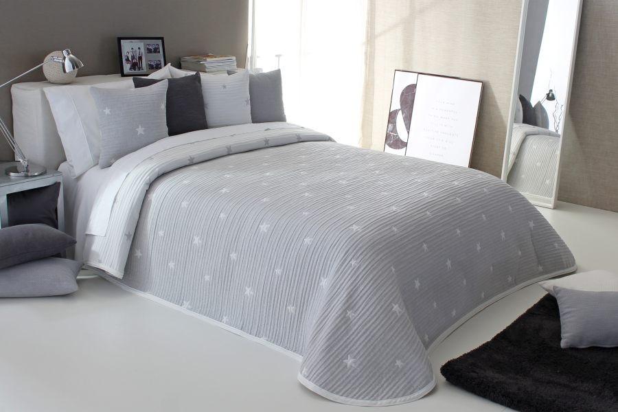 Cuvertura de pat DEMPSY gri, dimensiune 235 cm x 270 cm perdele-online.ro 2021
