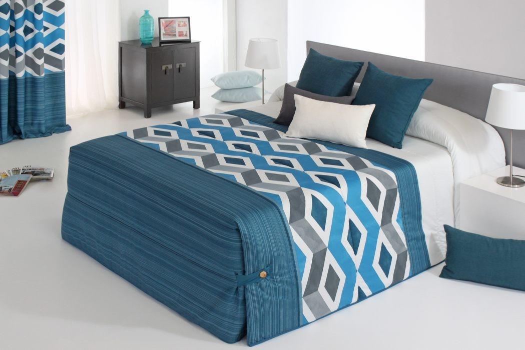 Cuvertura de pat MORGAN 02 albastru, dimensiune 250 cm x 270 cm perdele-online.ro 2021