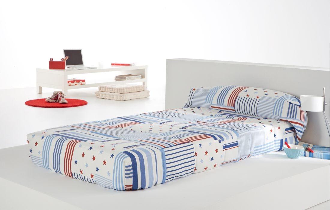 Cuvertura de pat PATCH AG fix, albastru, dimensiune 90 cm x 200 cm perdele-online.ro 2021