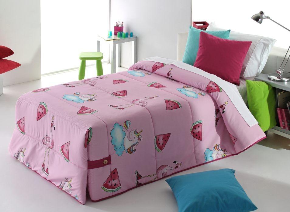 Cuvertura de pat PINK 02 roz, dimensiune 190 cm x 270 cm 2021 perdele-online.ro