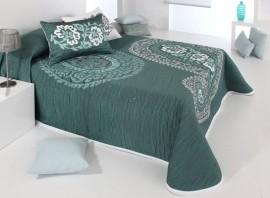 Cuvertura de pat BLAZE verde, dimensiune 250 cm x 270 cm