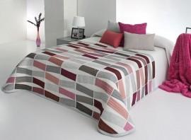 Cuvertura de pat CELSO rosa, dimensiune 235 cm x 270 cm