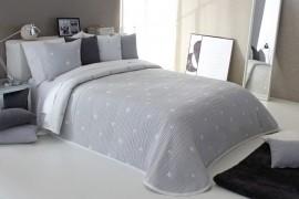 Cuvertura de pat DEMPSY gri, dimensiune 250 cm x 270 cm