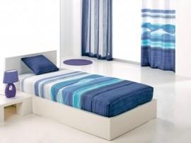 Cuvertura de pat IRAZU AO fix, albastru, dimensiune 90 cm x 200 cm
