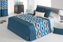 Cuvertura de pat MORGAN 02 albastru, dimensiune 205 cm x 270 cm