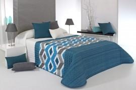 Cuvertura de pat MORGAN 2P albastru, dimensiune 235 cm x 270 cm