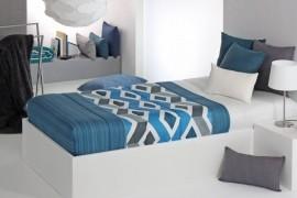 Cuvertura de pat MORGAN AG fix, albastru, dimensiune 90 cm x 200 cm