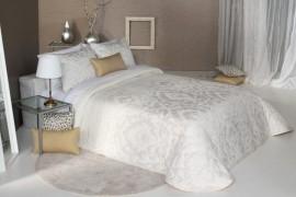 Cuvertura de pat PALERMO alb, dimensiune 280 cm x 270 cm