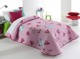Cuvertura de pat PINK 2P roz, dimensiune 205 cm x 270 cm