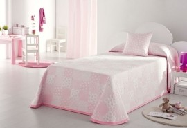 Cuvertura de pat PISPA roz, dimensiune 205 cm x 270 cm