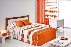 Cuvertura de pat SIPO 02 portocaliu, dimensiune 205 cm x 270 cm