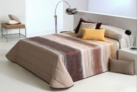 Cuvertura de pat FILTER maron, dimensiune 235 cm x 270 cm